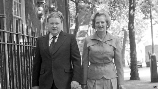 Lord McAlpine with Margaret Thatcher