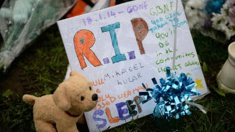 Tribute to Mikaeel left outside family home
