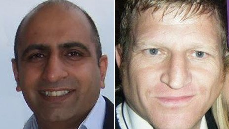 Del Singh (left) and Simon Chase