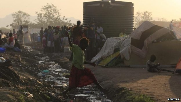 Refugees in Tomping camp, Juba, 10 Jan