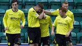 St Mirren celebrate the opener against Hibs