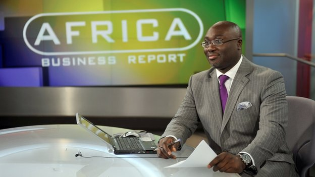 Komla Dumor presenting Africa Business Report in 2009