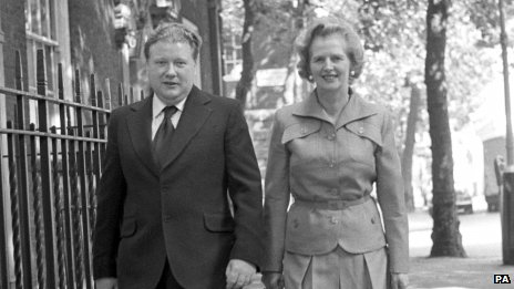 Lord McAlpine and Margaret Thatcher in 1975
