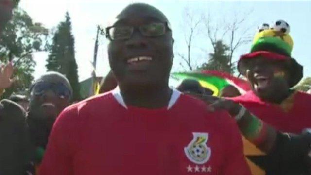 Komla Dumor in Ghana football strip