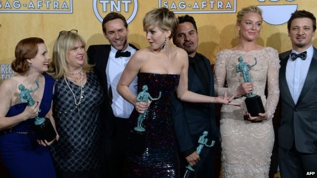 The cast of American Hustle with their SAG Awards
