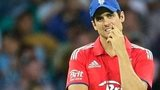 A disconsolate England skipper Alastair Cook in Sydney