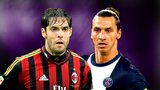 Kaka and Zlatan Ibrahimovic