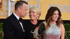 Tom Hanks, along with his wife Rita Wilson and Emma Thompson