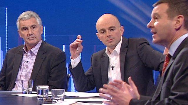 Gareth Davies, Gareth Lewis and Roger Lewis