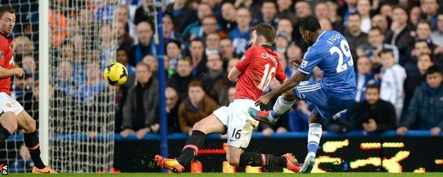 Samuel Eto'o fires Chelsea ahead