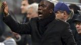 New AC Milan coach Clarence Seedorf gestures during the team's Serie A match against Hellas Verona