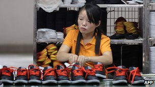 A worker at a factory in China