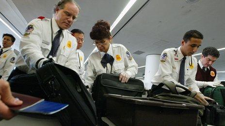 Bag search at airport