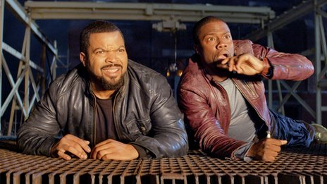 Ice Cube (l) and Kevin Hart in Ride Along