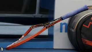 Murray's racquet