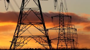Electricity pylons in UK - file pic