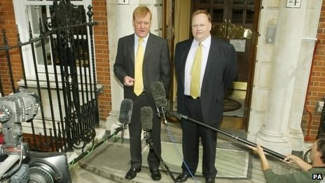 Lord Rennard with Charles Kennedy in 2004