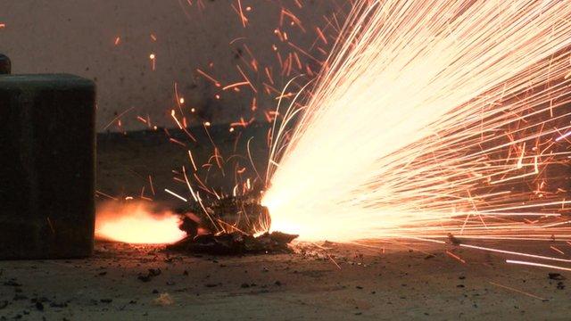 Exploding battery