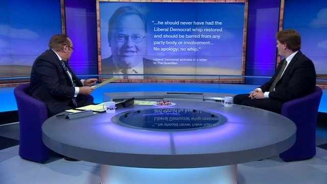 Andrew Neil and Danny Alexander on Sunday Politics