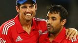 England captain Alastair Cook (left) and Ravi Bopara