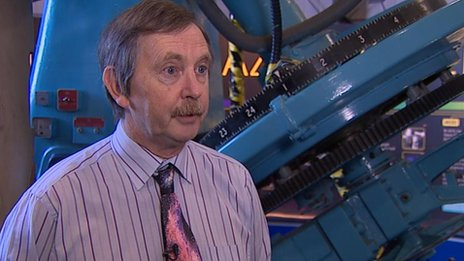 Dr John Davies says telescopes are getting bigger but that causes problems