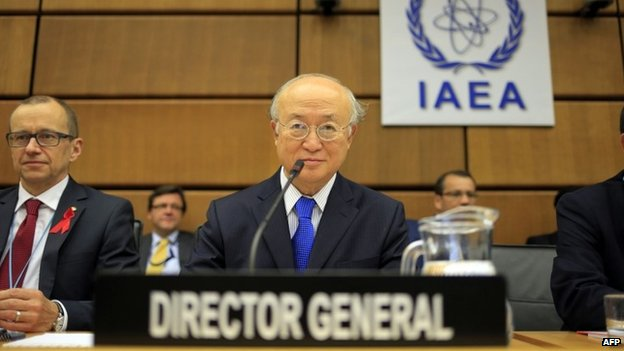 International Atomic Energy Agency (IAEA) Director General Yukiya Amano in Geneva (29 November 2013)