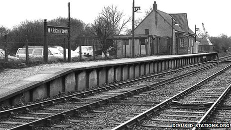 Marchwood station in 1960s