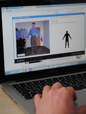 The London College of Fashion is developing virtual fitting software you can use at home