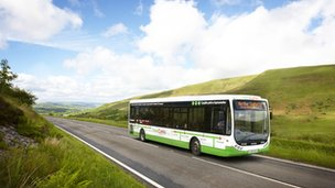 T4 bus in the Brecon Beacons