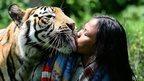 Abdullah Sholeh and Bengal tiger Mulan Jamilah