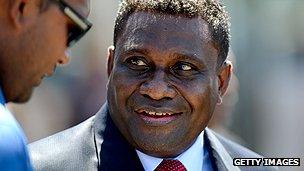 Solomon Islands' Prime Minister Gordon Lilo