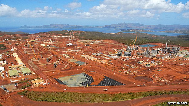 The Goro Nickel plant in New Caledonia