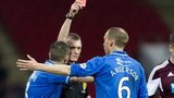 Referee Brian Colvin sends off Steven Anderson