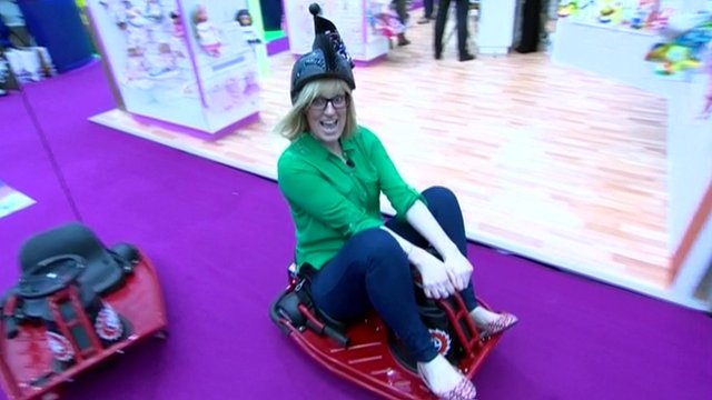Steph McGovern on go-kart