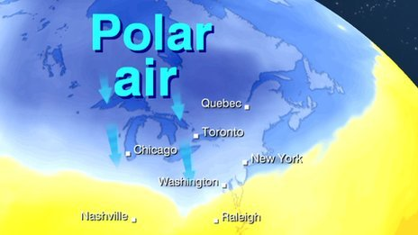 Cold plunge over USA