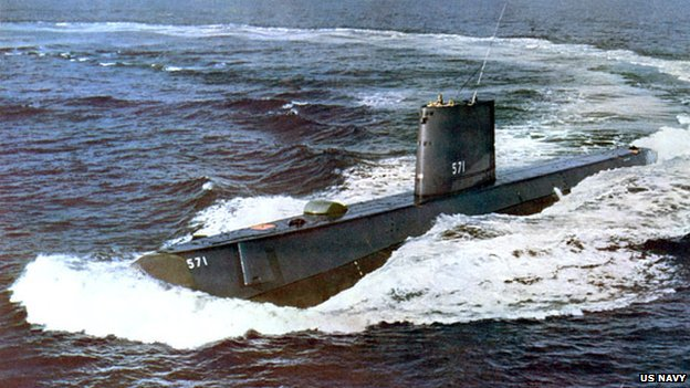 USS Nautilus as sea