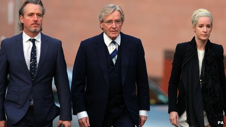 William Roache with son Linus and daughter Verity