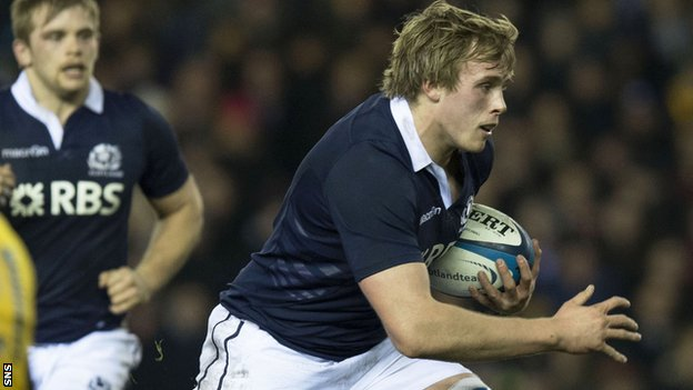 Scotland forward Jonny Gray
