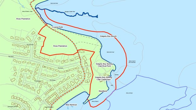 Map of Dalgety Bay