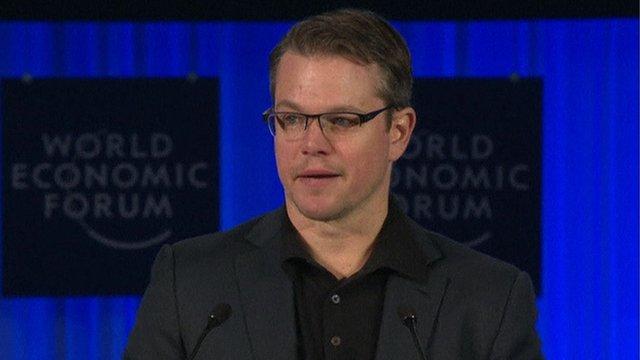 Actor Matt Damon