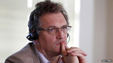 Jerome Valcke in Curitiba