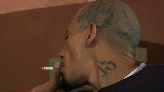 Gang member in El Salvador