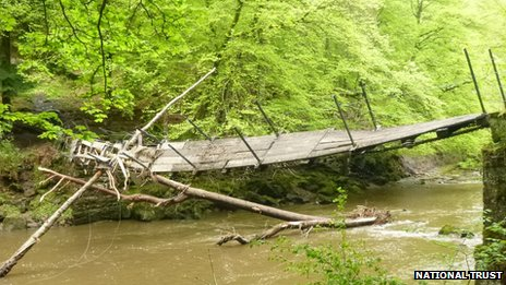 Damaged bridge