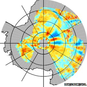 Antarctic radar data