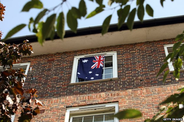 Australian flag in London