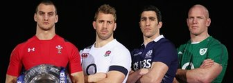 The captains of Wales, England, Scotland and Ireland
