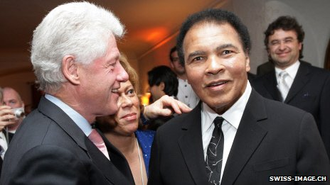 Bill Clinton and Muhammad Ali