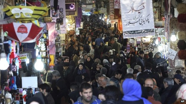 Tehran's main bazaar (20 January 2014)