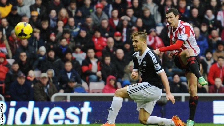 Adam Johnson scoring for Sunderland