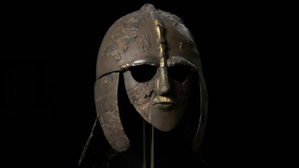 Helmet found at Sutton Hoo